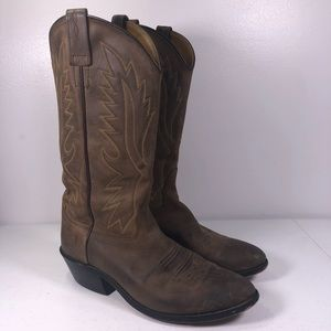 Old West Western Pull On Cowboy Boots